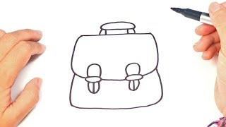 How to draw a School Bag | School Bag Easy Draw Tutorial