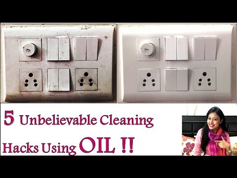 5 Cleaning Hacks Using OIL | 👌👌 Best & Very Useful | Tips & Tricks | Important Cleaning Tips