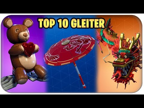 TOP 10 🏅 DIE BESTEN GLEITER SKINS | Fortnite Season 3 Deutsch German