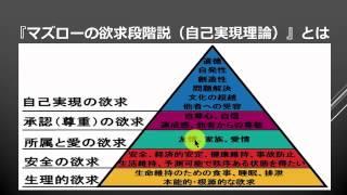 マズローの欲求段階説(自己実現理論) 【 ビジネス心理学02 】 - YouTube