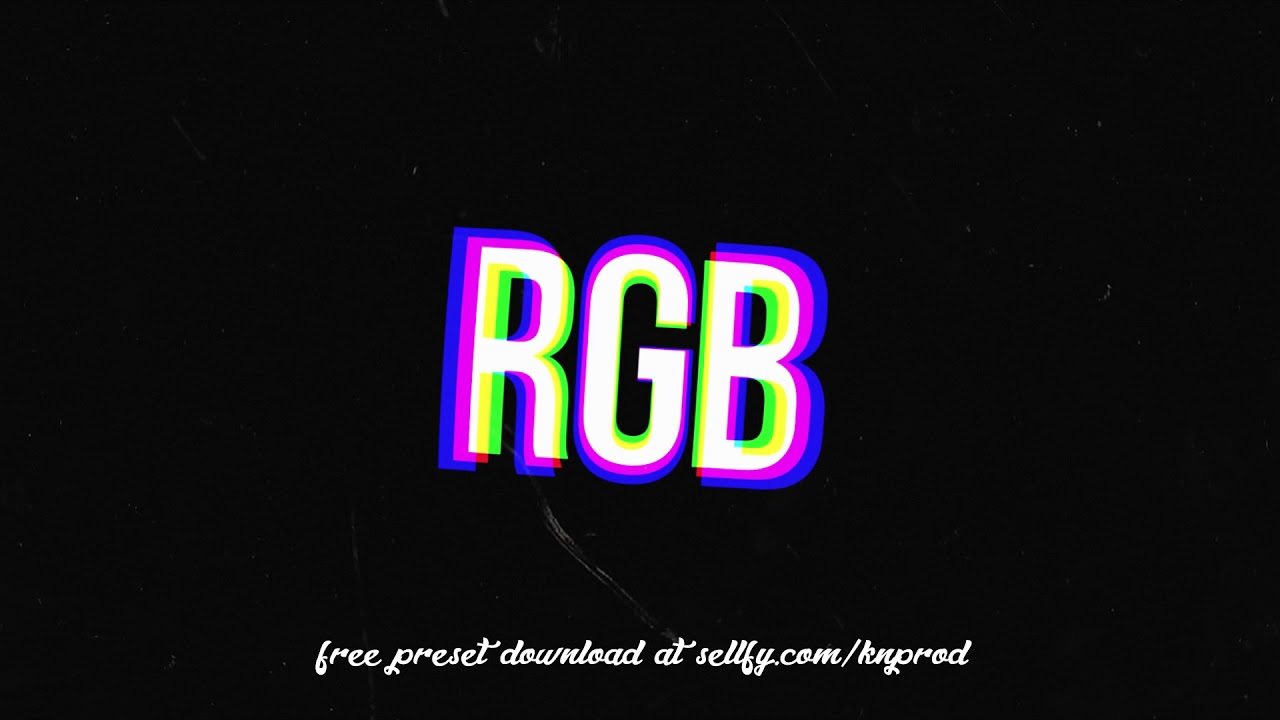 Free RGB Text/Image Preset for Premiere Pro CC - wh1tejunk