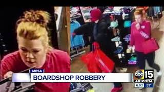 Police looking for suspects in Mesa board shop robbery
