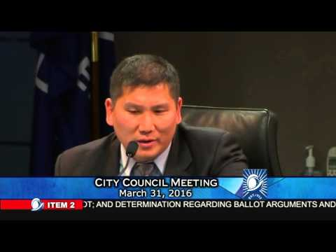 Heated argument on Cupertino City Council Meeting March 31, 2016