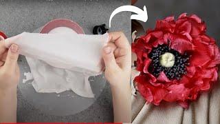 Как самостоятельно обработать ткань для цветка из шелка