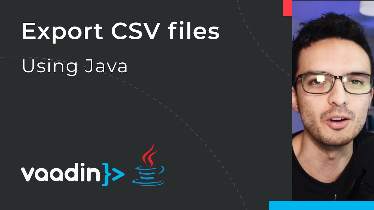 Export data to CSV files in Java