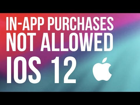 """FIX """"In-app Purchases Are Not Allowed"""" IOS 12 