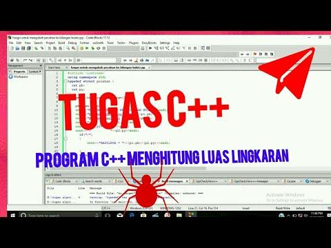 Contoh Program C Menghitung Luas Lingkaran Youtube