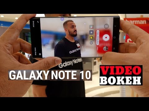 Galaxy Note 10 Plus Blur Video Background | Live Focus Effect | Bokeh
