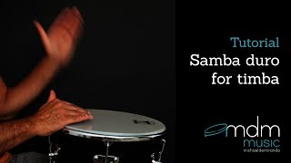 Samba duro on timbau timbal lesson