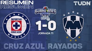 Resumen y goles   Cruz Azul 1-0 Rayados   Torneo Guard1anes 2021 BBVA MX    TUDN