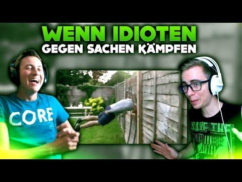 WENN VOLLIDIOTEN GEGEN SACHEN KÄMPFEN... | WTF VIDEOS