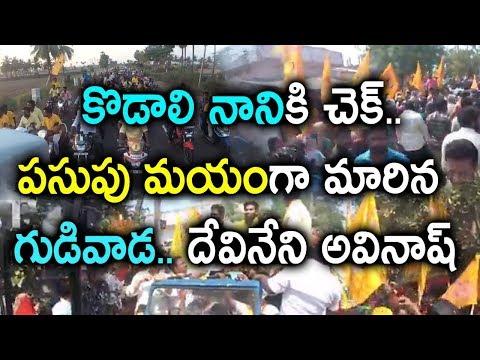 Gudivada TDP Candidate Devineni Avinash Huge Rally in Gudivada    AP Elections 2019    Socialpost