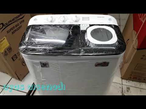 #VHH85MN REVIEW FISIK FITUR MESIN CUCI TOSHIBA 2 TABUNG 7,5KG