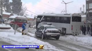 Gerze'ye İlk Kar Yağdı
