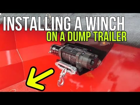 Installing A Bulldog 6,000lb Winch On A Dump Trailer