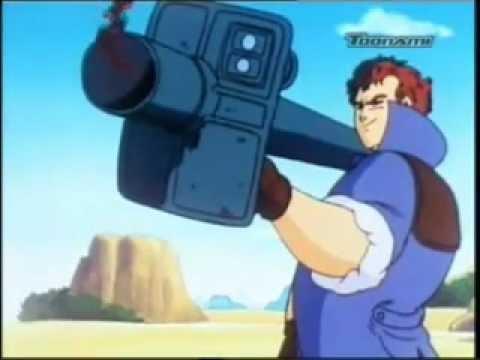 Colonel Silver destroys Goku's Nimbus. [Blue Water Dub]