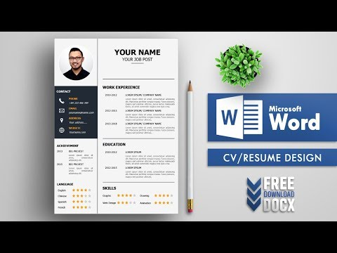 CV Template Resume Design In MS Word Free Download