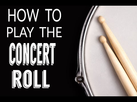 How to play the concert roll