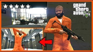 DANGEROUS JAILBREAK AND HIDDEN ROOMS IN PRISON! (GTA 5 Mods)