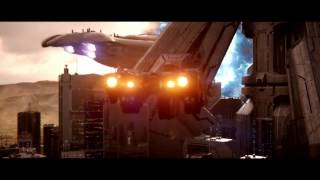 Halo 2 Anniversary Cutscene:Its gonna jump...inside the city!