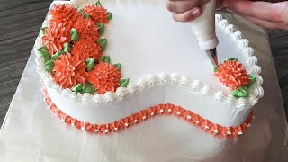 Paisley flower cake with whipped cream thumbnail