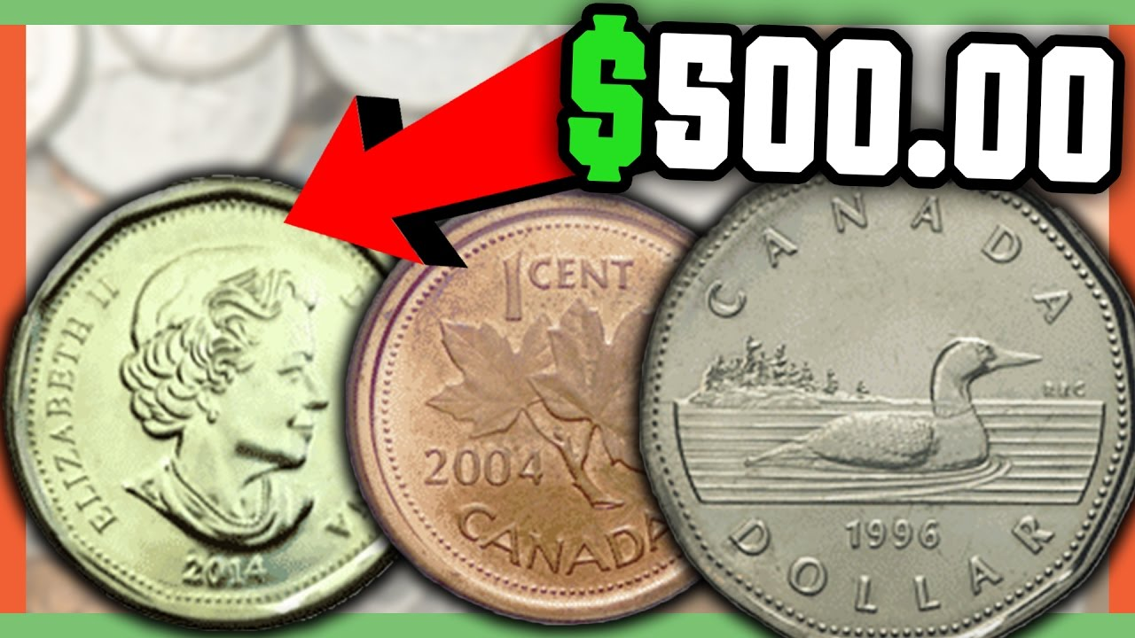 RARE CANADIAN COINS WORTH MONEY - VALUABLE CANADIAN COINS IN POCKET CHANGE!!