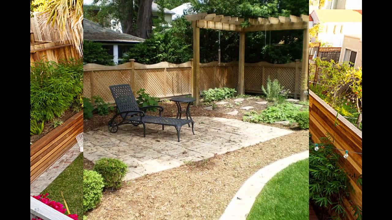 Beautiful Garden for small backyards - YouTube
