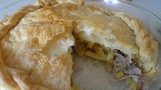 89. Вкусный пирог с мясом и картошкой