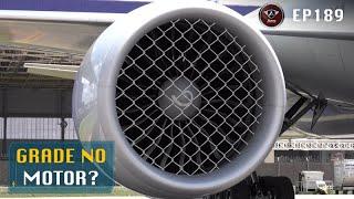 Por que não tem grade de proteção na frente do motor a jato?