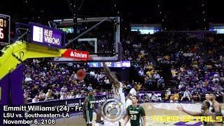 LSU 5-star freshman Emmitt Williams vs. Southeastern (12 points, 10 rebounds)