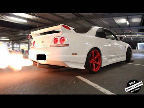 Anti Lag System Nissan Skyline R33 Crazy Loud Shooting