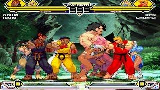 Street Fighter III Party 4v4 Patch MUGEN 1.0 Battle!!!