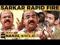"""Sarkar ஓடுது Sarkar ஆடுது"" Nanjil உடன் Tension RAPID FIRE | Thalapathy Vijay | MT 203"
