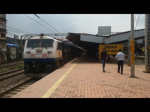 Rare Appearance Of Delayed 11013 Mumbai LTT - Coimbatore  Express In Daylight Depart From Mumbai
