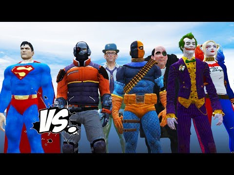 SUPERMAN VS BATMAN ENEMIES - DEADSHOT, THE JOKER, HARLEY QUINN, DEATHSTROKE VS SUPERMAN