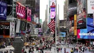 UHD Ultra HD 4K Video Stock Footage New York City Times Square Busy Street Traffic Day Night