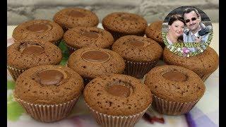 Готовим дома шоколадные кексы с конфетами  Простой рецепт,вкусно и быстро