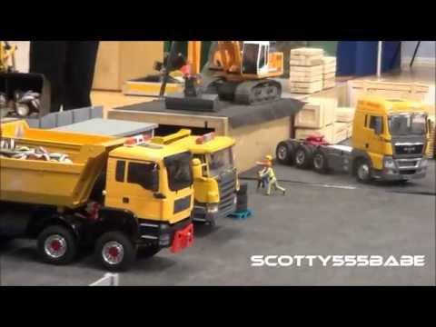 Rc Trucks & Construction, Scrapyard @ Leyland May 2015 Rc Hydraulics Tamiya Premacon Wedico LKW