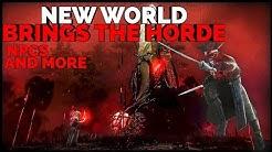 Amazon's 🧧NEW WORLD MMO Brings The HORDE|NPCs|Stream Integration? (War Analysis, Community) (1080p)