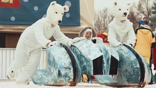 Новаторы - В Москве прошли Первые Новаторские гонки на креативных санях