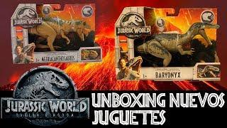 Unboxing Baryonyx y Metriacanthosaurus - Jurassic World Fallen Kingdom