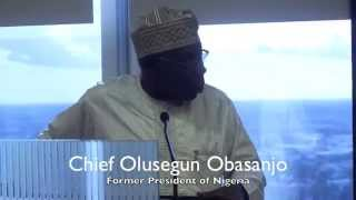 Former President of the Nigeria, Chief Olusegun Obasanjo, Visits with Houston Business Leaders