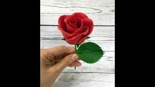 Роза из мастики ( Самый простой способ для новичков!)( Easy and fast fondant rose!)