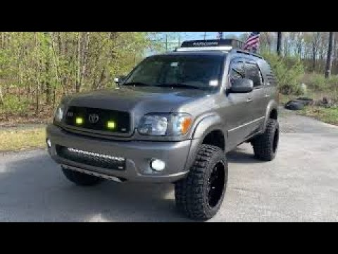 lifted toyota sequoia roof rack youtube