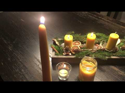 How long will beeswax candles burn