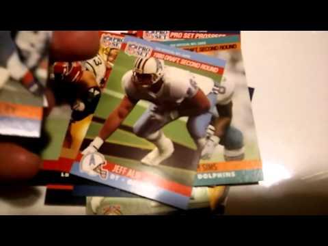 Vtg Junk Wax 1990 Pro Set Football Box Break