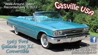 Walk Around Video 1963 Ford Galaxie 500 XL Convertible