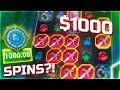$1000 SPINS BUT I GOT A BONUS!? Tome of MONEY