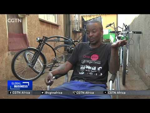 Young South African entrepreneur designs cheap, hybrid, motorised bicycle