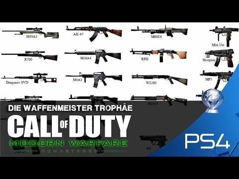 Call of Duty 4 Modern Warfare Remastered - Waffenmeister Trophäe - PS4 - German